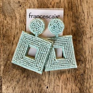 Francesca's Dani Beaded Statement Earrings